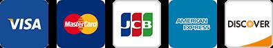 利用可能なカード会社のロゴ